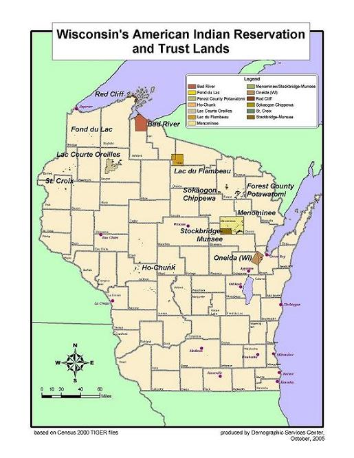 Wis American Indian Reservation and Trust Lands