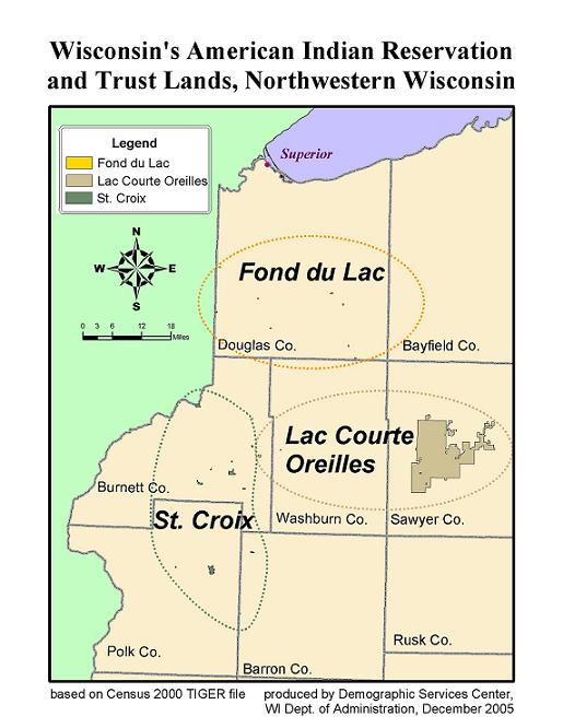 Wis American Indian Reservation & Trust Lands Northern Wis